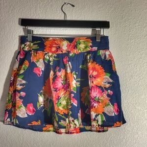 Aeropostale | Flowered Skirt with Pockets